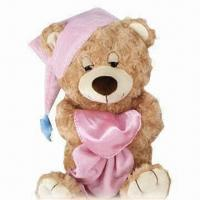 Buy cheap Stuffed Teddy Bear Plush Toy with Hat, ODM/OEM Orders are Welcome, Available in Various Designs product