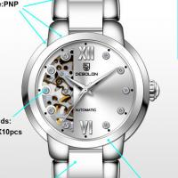 Buy cheap Luxury Ceramic Stainless Steel New Wrist Watch / Automatic Skeleton Watch CYX 022 from wholesalers