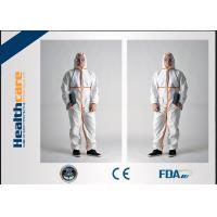 Buy cheap Type 5 6 Disposable Protective Coveralls / Disposable Clean Room Suits CE Certificate from wholesalers