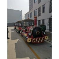 Buy cheap Big Trackless Sightseeing Train  Amusement Equipment  42 Seats 28 Km/h from wholesalers