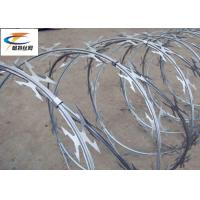 Buy cheap Anti - Climbing Galvanized Razor Barbed Wire Age Resistance For Border Protection from wholesalers