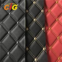 Car Seat Car Floor Embroidery PVC leather with High Density Foam