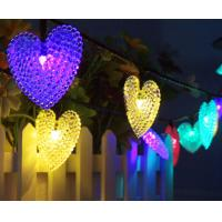 Buy cheap 30LED Solar Light String Heart Shape Modeling Christmas decoration string Lights Outdoor Waterproof Garden Lamp from wholesalers