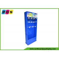 Buy cheap Blue Color Retail Corrugated Floor Displays , 12 Inch Pegs Cardboard Store Display For Summer Toys HD027 from wholesalers