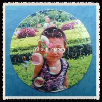 Buy cheap Sublimation round shape Mini Jigsaw Puzzle 9.5*9.5cm from wholesalers