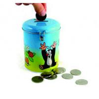Buy cheap round coin bank tin box from wholesalers