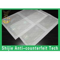 Buy cheap NC hologram overlay sticker 85 x 54 mm Clear Transparent for ID Card from wholesalers