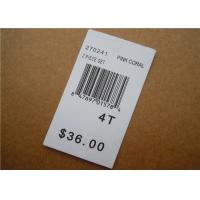 Buy cheap White Clothing Brand Tags / Paper Garment Hang Tags For Clothing from wholesalers