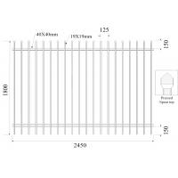 Buy cheap 45° mitre triangle tubular security hercules steel fencing panels 1.5mx 2.45m 42 microns hdg and 80 microns powder from wholesalers