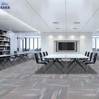 Buy cheap EAKA High traffic PP 50X50 fire resistant office floor eco-friendly bitumen backing removable best price carpet for sale from wholesalers