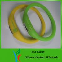 Buy cheap Pink / Blue / White / Black Anion Silicone Watch With Customized Logo, 15 -19 cm from wholesalers