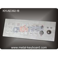Mine Machine Industrial Kiosk Metallic Keyboard for with Integrated Trackball