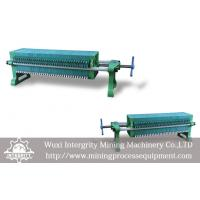 Buy cheap Manual Operation Recessed Chamber Filter Press Mineral Dewatering from wholesalers