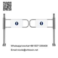 Buy cheap supermarket swing gate barriers /supermarket turnstiles barrier gate from wholesalers