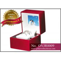 Buy cheap OEM / ODM designer red rose Gift Jewellery Boxes, video double ring box and Plastic ring presentation box from wholesalers
