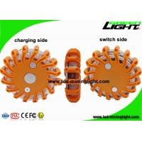 Buy cheap Rechargeable Amber Led Road Flares Emergency Disc , Super Bright Durable Flashing Warning Beacon from wholesalers