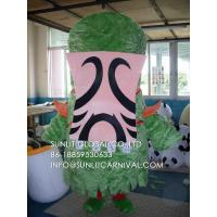 Buy cheap green grass monster mascot costume/customized fur insect mascot costume from wholesalers