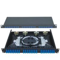 Buy cheap 19''Standard Structure SC24 Rack-Mounted  Fiber Optic Patch Panel  Terminal Box from wholesalers