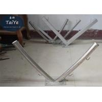 Buy cheap Round Tube Barbed Wire Fence Post V Razor Wire Brackets With 4 Strands from wholesalers
