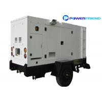 Buy cheap Portable Silent Type Diesel Genset With Wheels 50kw Trailer Generator from wholesalers