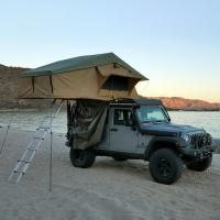 Buy cheap PU Coated 4x4 Off Road Roof Top Tent With 2M Extendable Aluminum Ladder product