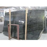 Buy cheap Ancient Wood Black Marble Stone Slabs Large Marble Tiles For Building product