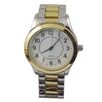 Buy cheap Stainless Steel Back Mens Quartz Watches Waterproof Big Face Watches from wholesalers