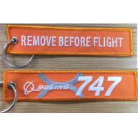 Buy cheap Boeing 747-8 747 Jumbo Jet Remove Before Flight Fabric Embroidery Keyring Key Chain FOB from wholesalers