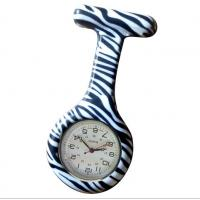 China Tear Resistant Ladies silicone Fob Watches For Nurses Printing Zebra Pattern on sale