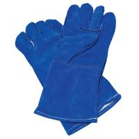 Buy cheap Blue Cow hide leather glove with CE certification from factory from wholesalers