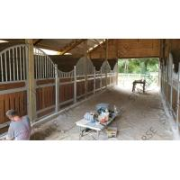 China Safety Bamboo Board Horse Stable Box Horse Stall Panel With Sliding Door on sale