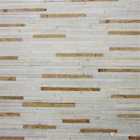 Buy cheap White Yellow Fine Strip Quartzite Stone Veneer for Hotel / Retail Shops Decor from wholesalers