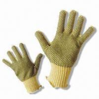 Buy cheap PVC Dot Kevlar Glove with Anti-skid Cutting Function from wholesalers
