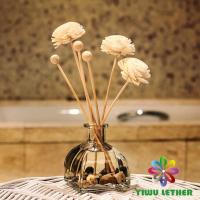 Buy cheap 150ml Home Reed Diffuser in Glass Bottle with Rattan Stick Sola Flower Reed Diffuser Gift Set from wholesalers