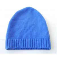 Buy cheap Autumn Warm Merino Wool Cashmere Hat , Adults Women Knitted Crochet Rib Hat from wholesalers