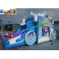Buy cheap Frozen Carriage Inflatable Bouncer Slide Air Bouncy Castle With Plato Material from wholesalers