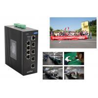 10 Ports Rugged Industrial Gigabit Ethernet Switch SFP Fiber Optic Poe Network Switch