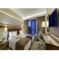 Customize Modern Design MDF Walnut Veneer Wooden Bedroom Furniture Set