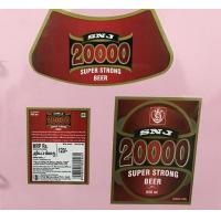 Buy cheap Custom Made Self Adhesive Beer Labels Square Matte / Glossy Lamination from wholesalers