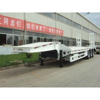 Buy cheap 40 ton low bed Semi-trailer with tri-axle from wholesalers