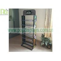 Buy cheap 2 sides metal display shelf for greenfield ,metal wite racks for displaying merchandise can OEM or ODM from wholesalers