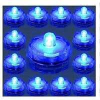 Buy cheap 12PCS Blue Submersible Battery LED Lights Flower Shape For Wedding Decorations from wholesalers