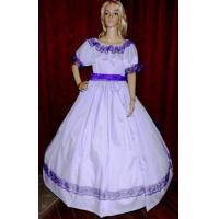 Buy cheap Wholesale CIVIL WAR ANTEBELLUM DICKENS PIONEER REENACTMENT Lavender Costume Dress Gown from wholesalers