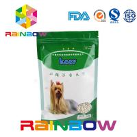 Buy cheap Foil Stand Up Pet Food Pouch With Zipper , 500g Plastic Dog Treats Packaging Bag from wholesalers