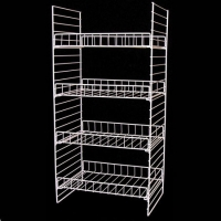 Buy cheap Supermarket Metal Wire Display Stands / Mulitple Shelf Wire Rack Display Stands from wholesalers