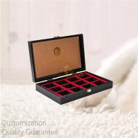 Buy cheap High Gloss Luxury MDF Wooden Tea Bags Storage Display Box with Stamped Logo and Metal Closure, Personalized Logo Brand. product
