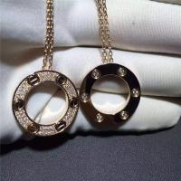 Buy cheap Cartier Love Necklace 18K Yellow Gold , Pave Diamond Necklace B7058400 from wholesalers