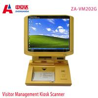 Buy cheap Gold Desktop Metal Detector Gate  Infrared Body Sensor  Touch Screen Scanner from wholesalers
