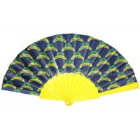 Buy cheap Custom Printed Hand Fans / Yellow , Black , White Rustic Wedding Fans from Wholesalers