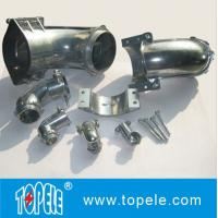 Buy cheap Straight / 90 Degree Flexible Conduit and Fittings Metal Zinc Squeeze Angle Connectors from wholesalers